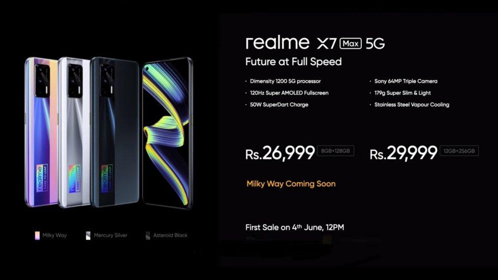 Realme-X7-Max-5G-kainois