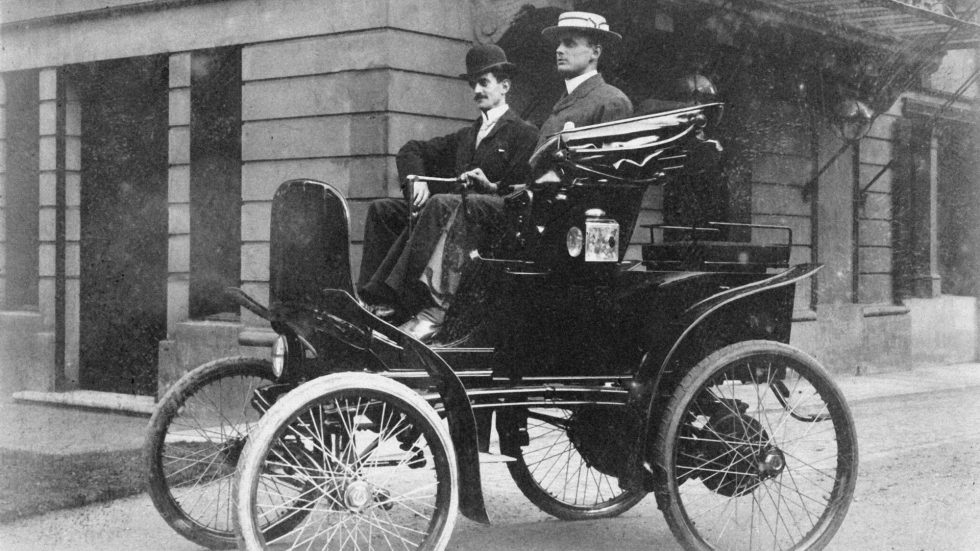 charles-stewart-rolls-on-a-columbia-electric-carriage-circa-1898