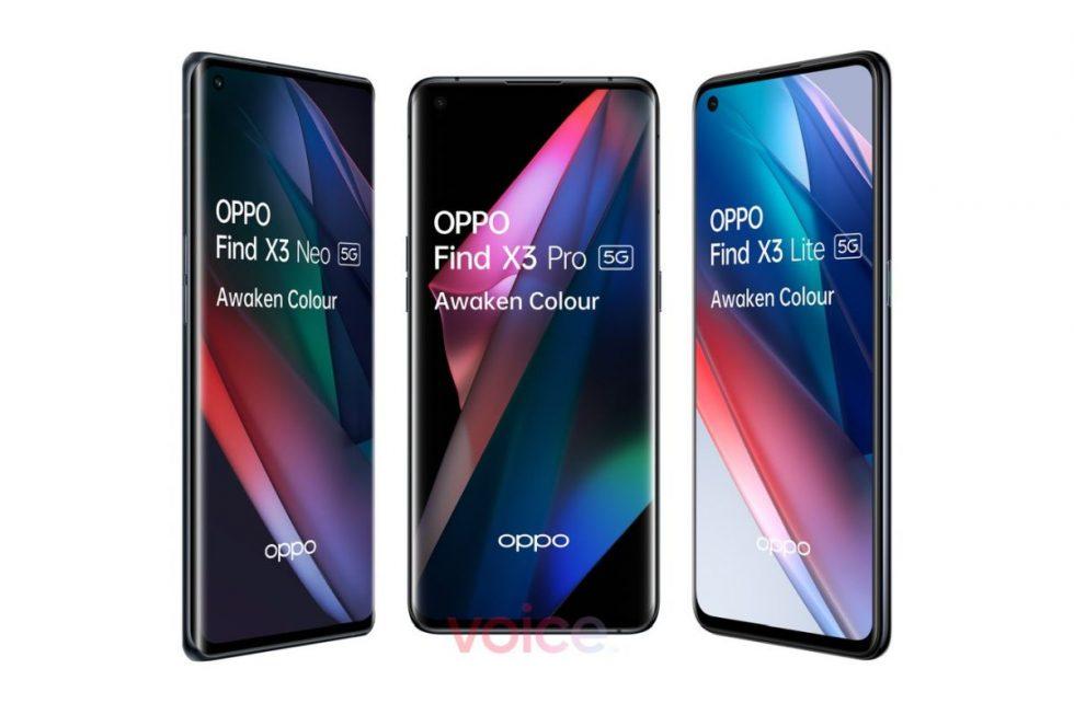 OPPO-Find-X3-Pro-Find-X3-LIte-and-Find-X3-Neo